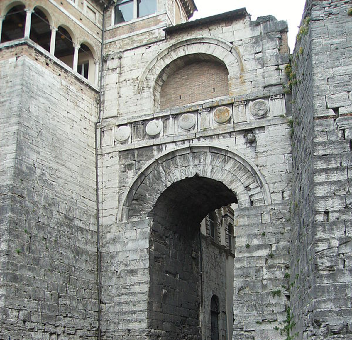 Etruscan arches at the Perugia gate