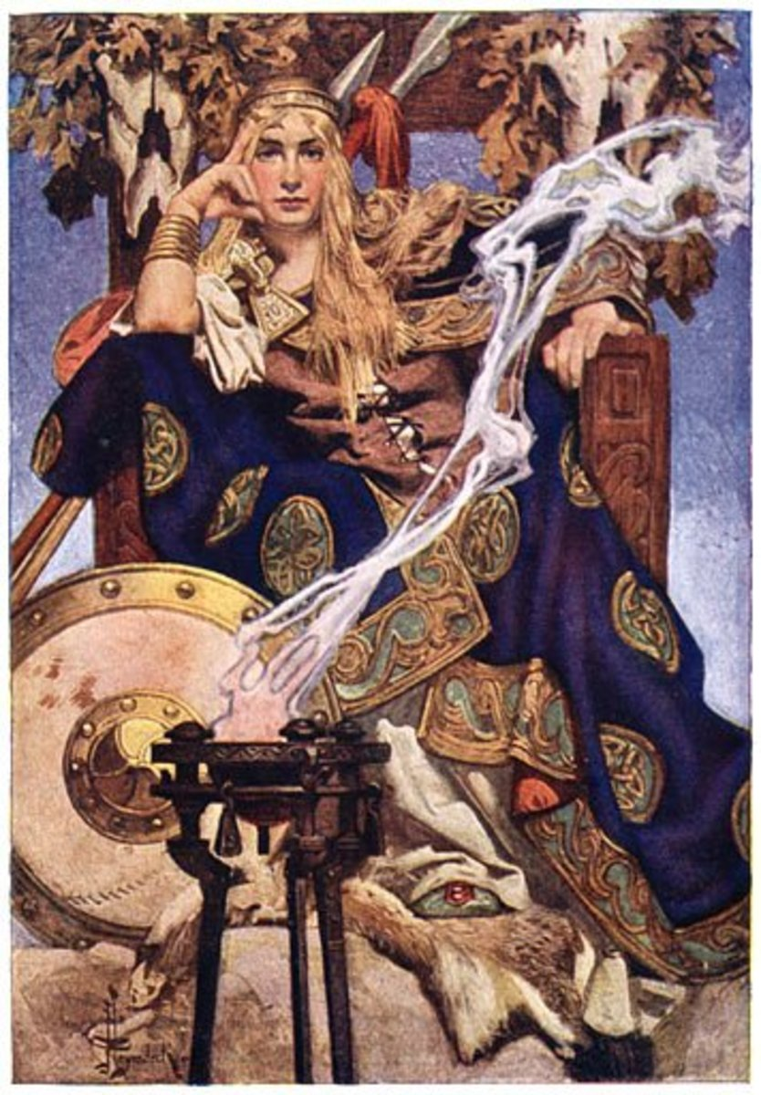 Queen Maeve illustration by Joseph Christian Leyendecker