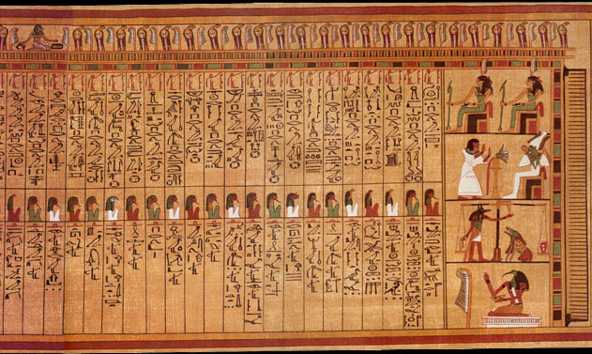 half of the Negative Confessions from the Papyrus of Ani