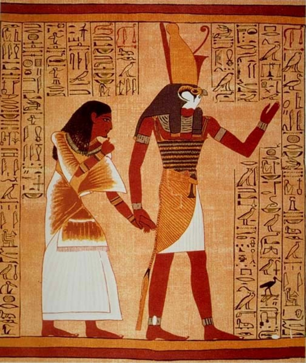 The god Horus leading Ani through the Duat