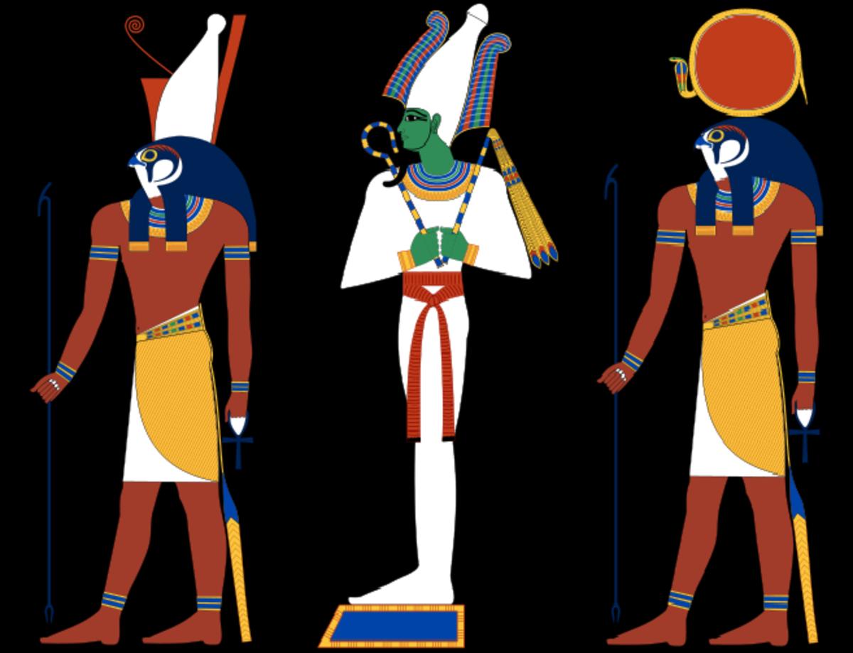 Horus, Osiris and Ra