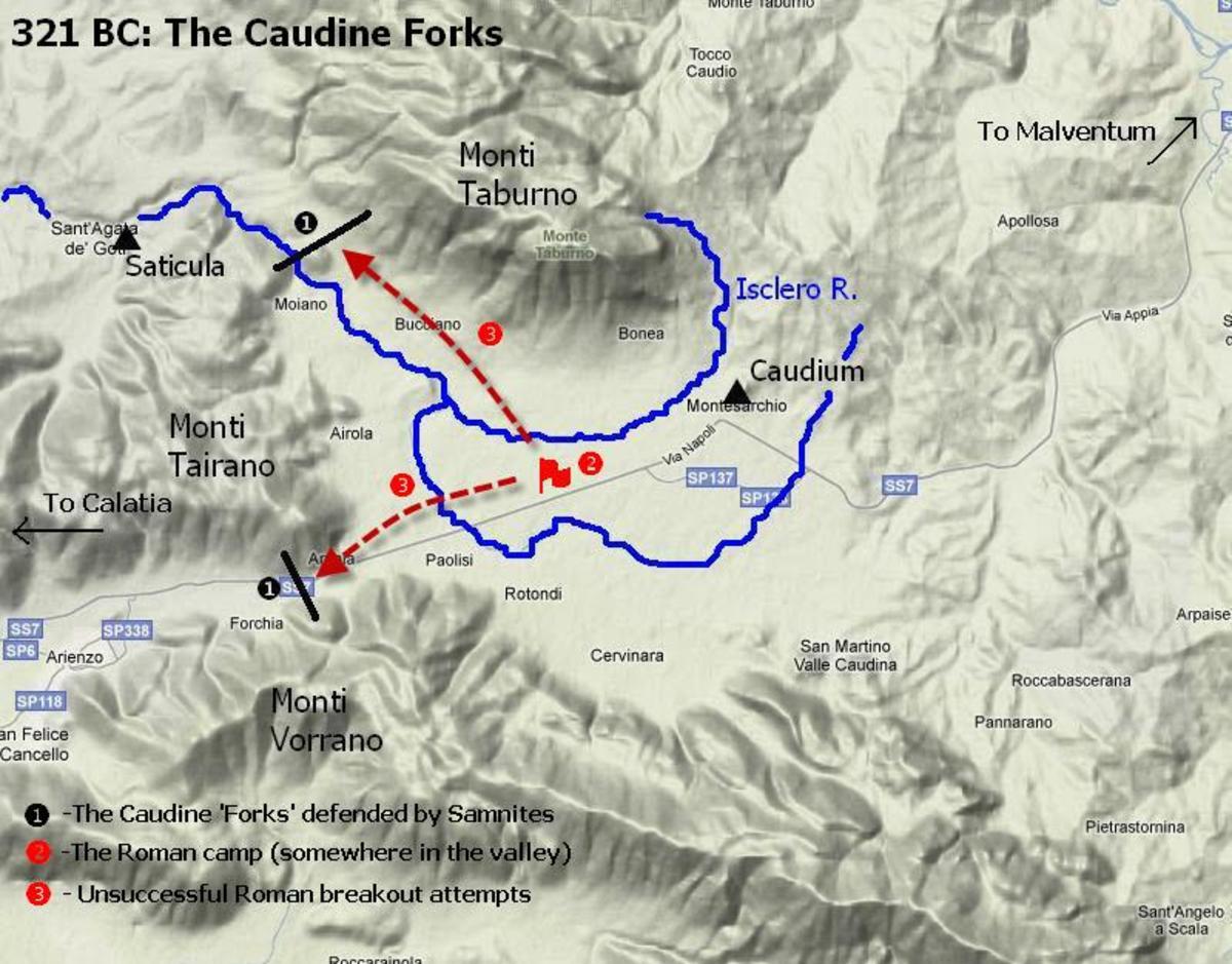 The Battle of Caudine Forks.  Second Samnite War.