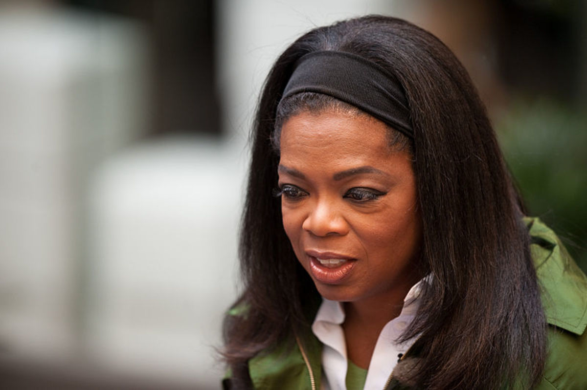 """Oprah Winfrey of the famous talk show, """"The Oprah Winfrey Show"""""""