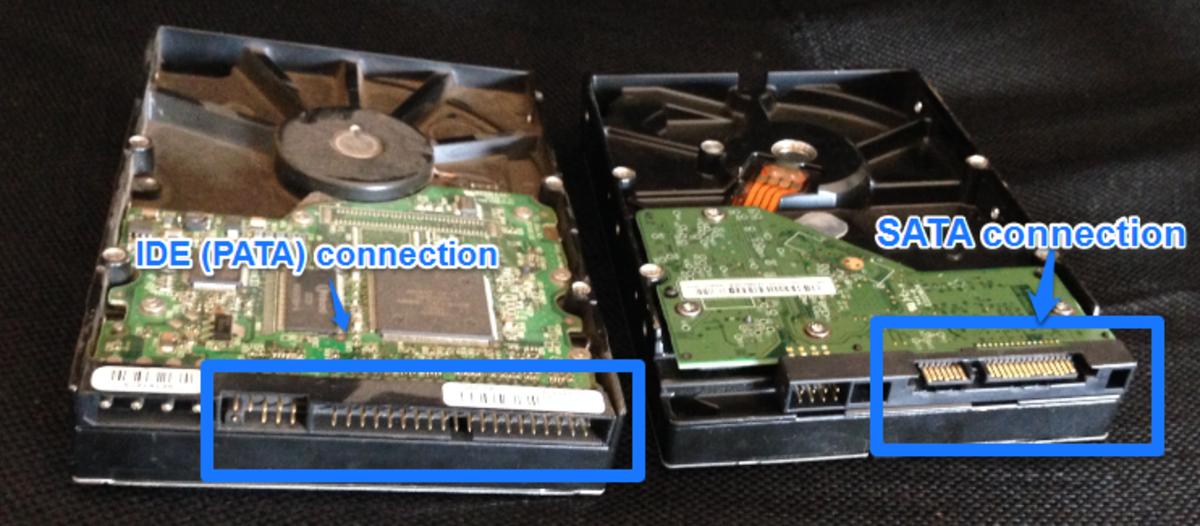 PATA and SATA connectivity