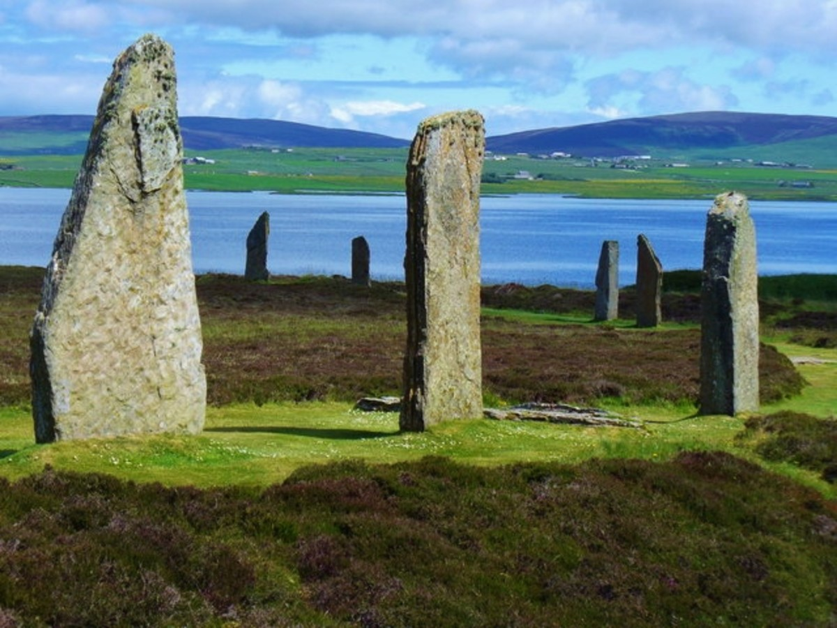 Ring of Brodgar with Loch Harray in the background. Photo by Colin Smith.