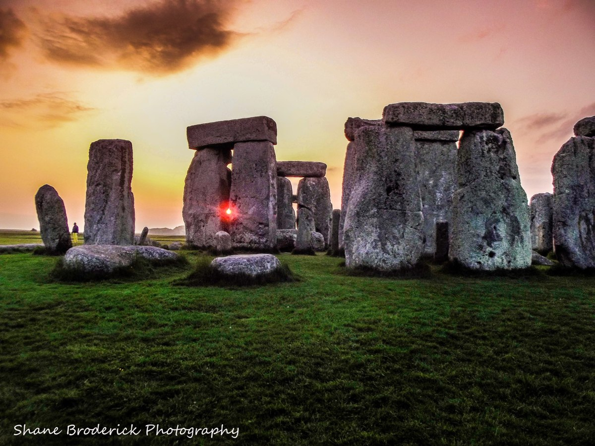 Stonehenge at sunset. Photo by Shane Broderick, used with permission.