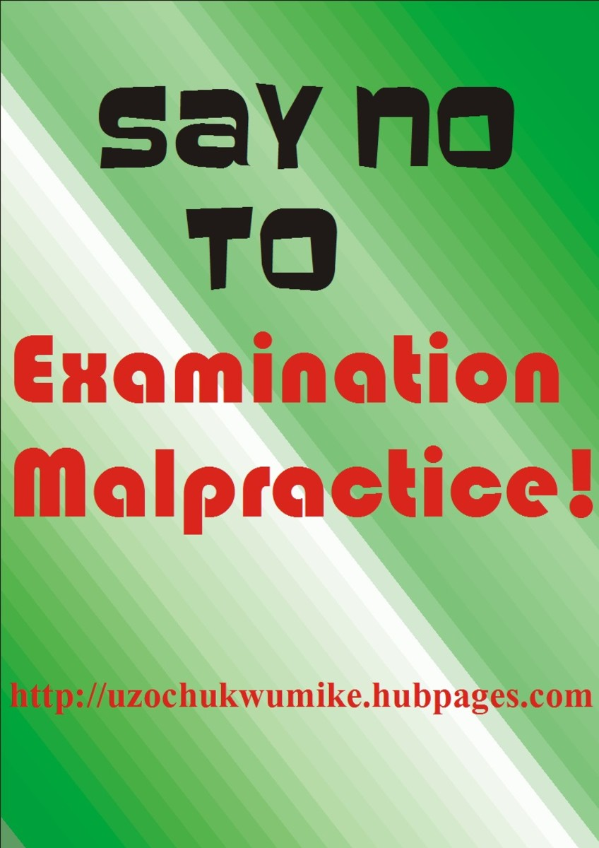 An illustration on rejecting and avoiding examination malpractice among students of various institutions.