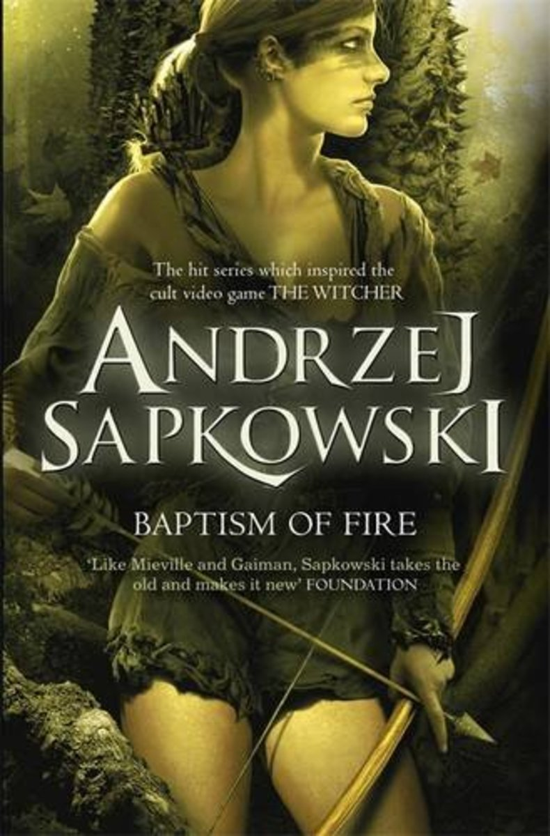 The cover for the next translation of Andrzej Sapkowski's Witcher series of book, Baptism of Fire.