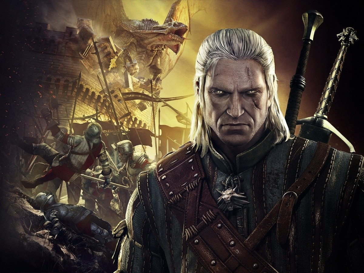 Wallpaper featuring Geralt of Rivia, the Witcher.