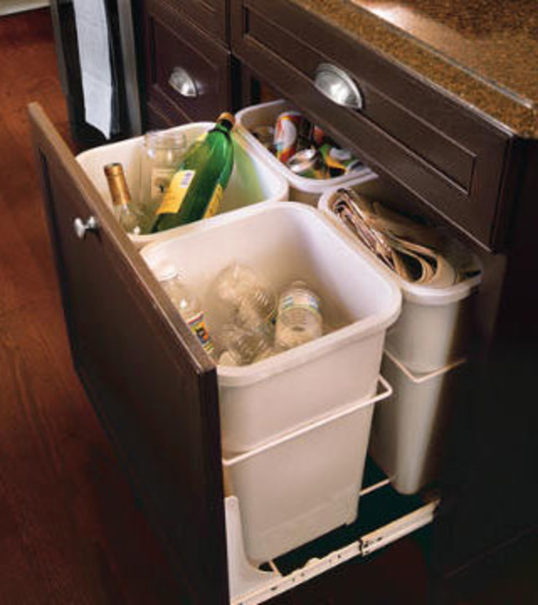 Small Kitchen Organizing Ideas   Click Pic for 20 DIY Kitchen Organization Ideas Set up a Mini Recycling Center in a Cupboard
