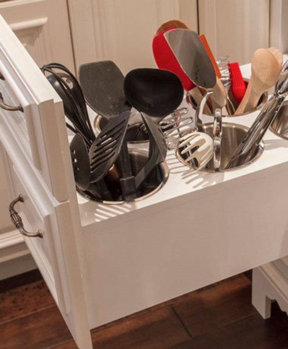 Small Kitchen Organizing Ideas   Click Pic for 20 DIY Kitchen Organization Ideas Use Canisters for Utensil Drawer