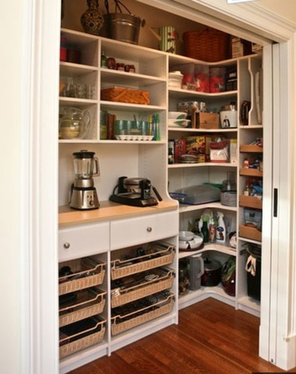 Small Kitchen Organizing Ideas   Click Pic for 20 DIY Kitchen Organization Ideas Walk in Pantry
