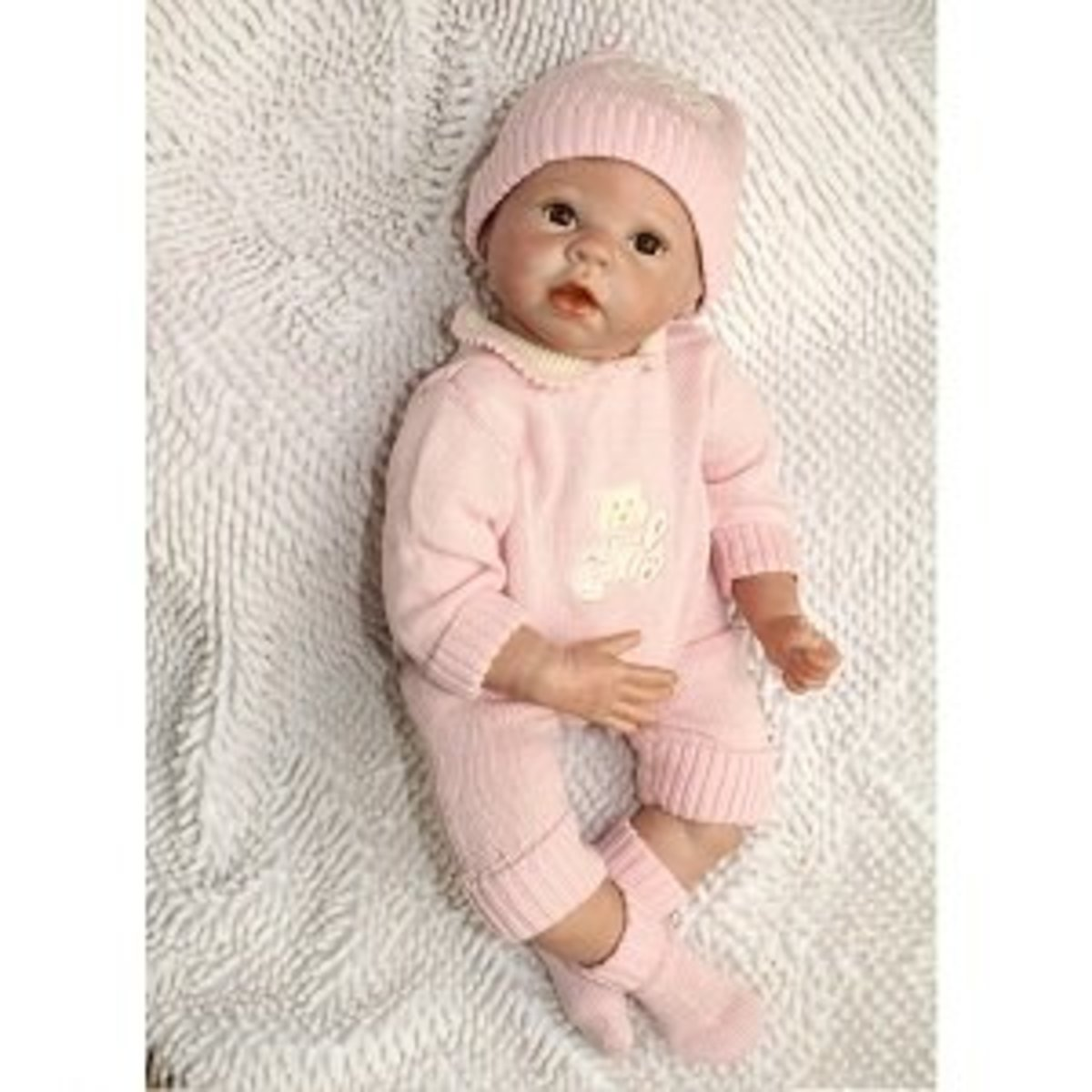 One of the realistic breathing baby dolls