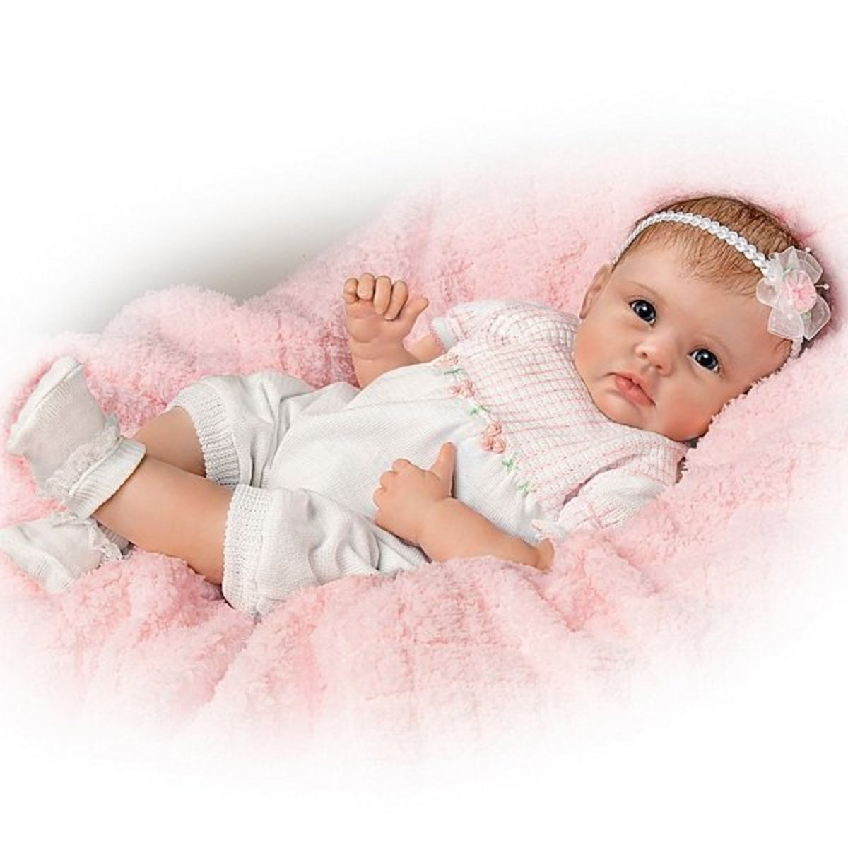 Meet Olivia, sweet lifelike baby girl doll