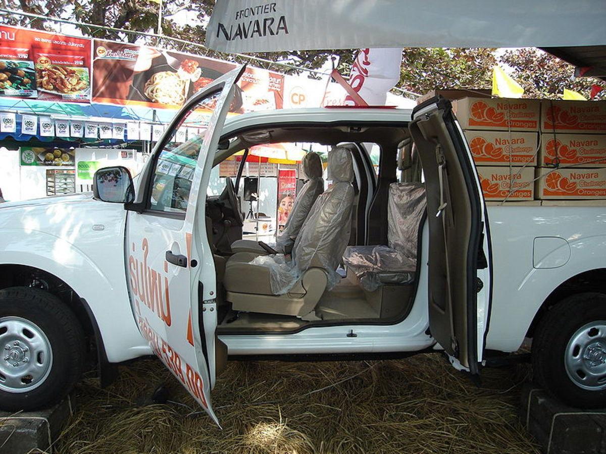 Nissan Navara has suicide doors