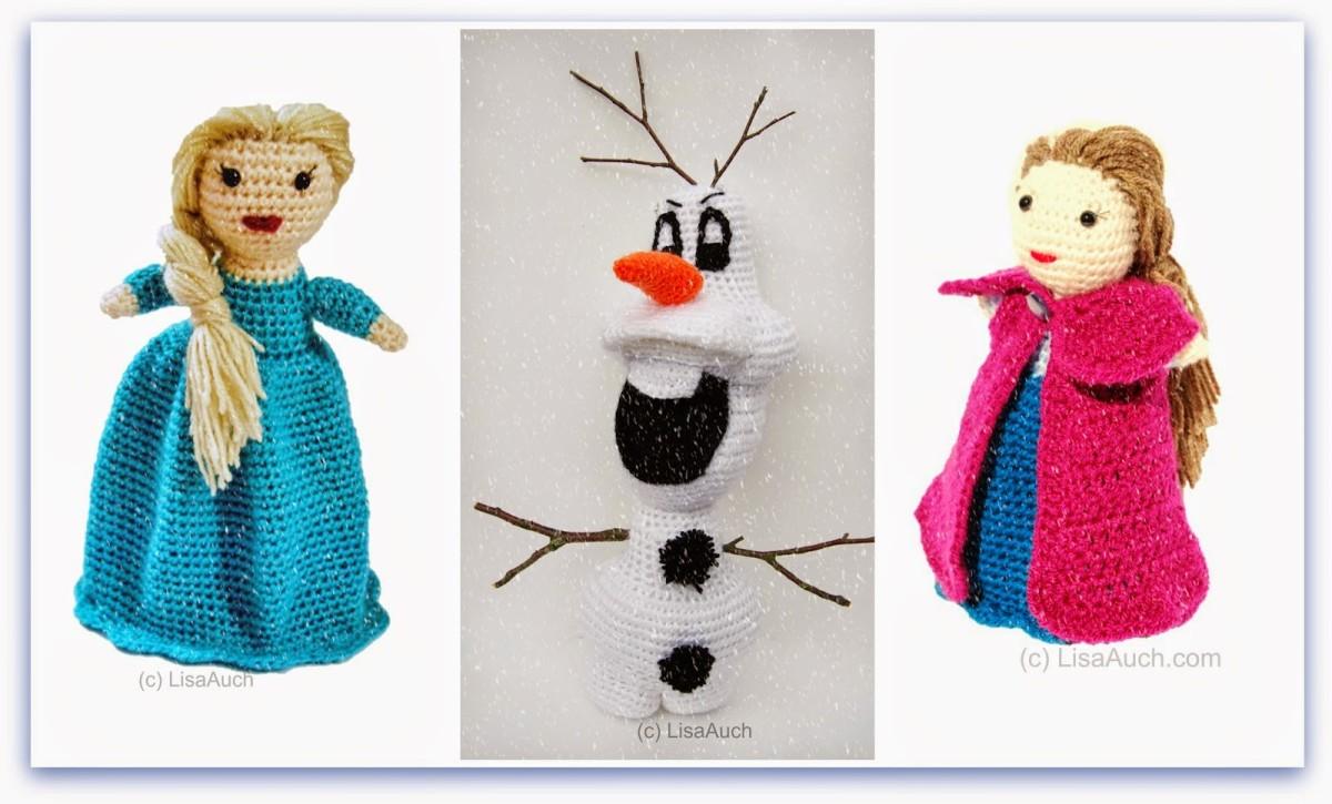Amigurumi Elsa Y Ana : Free Frozen Inspired Crochet Patterns