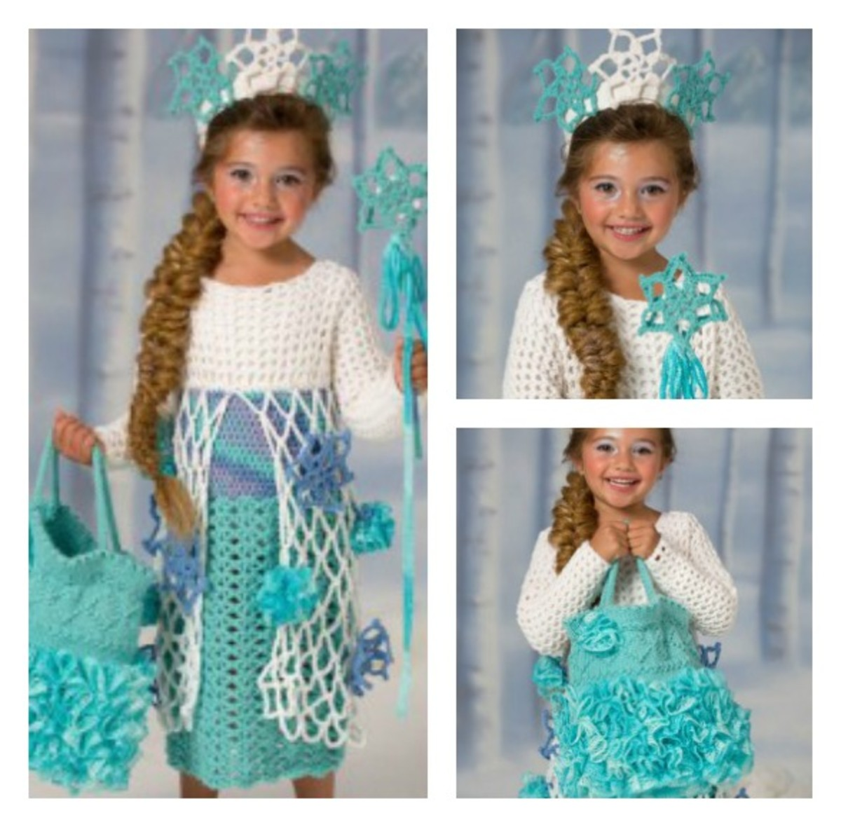 Free Snow Queen Frozen inspired crochet pattern