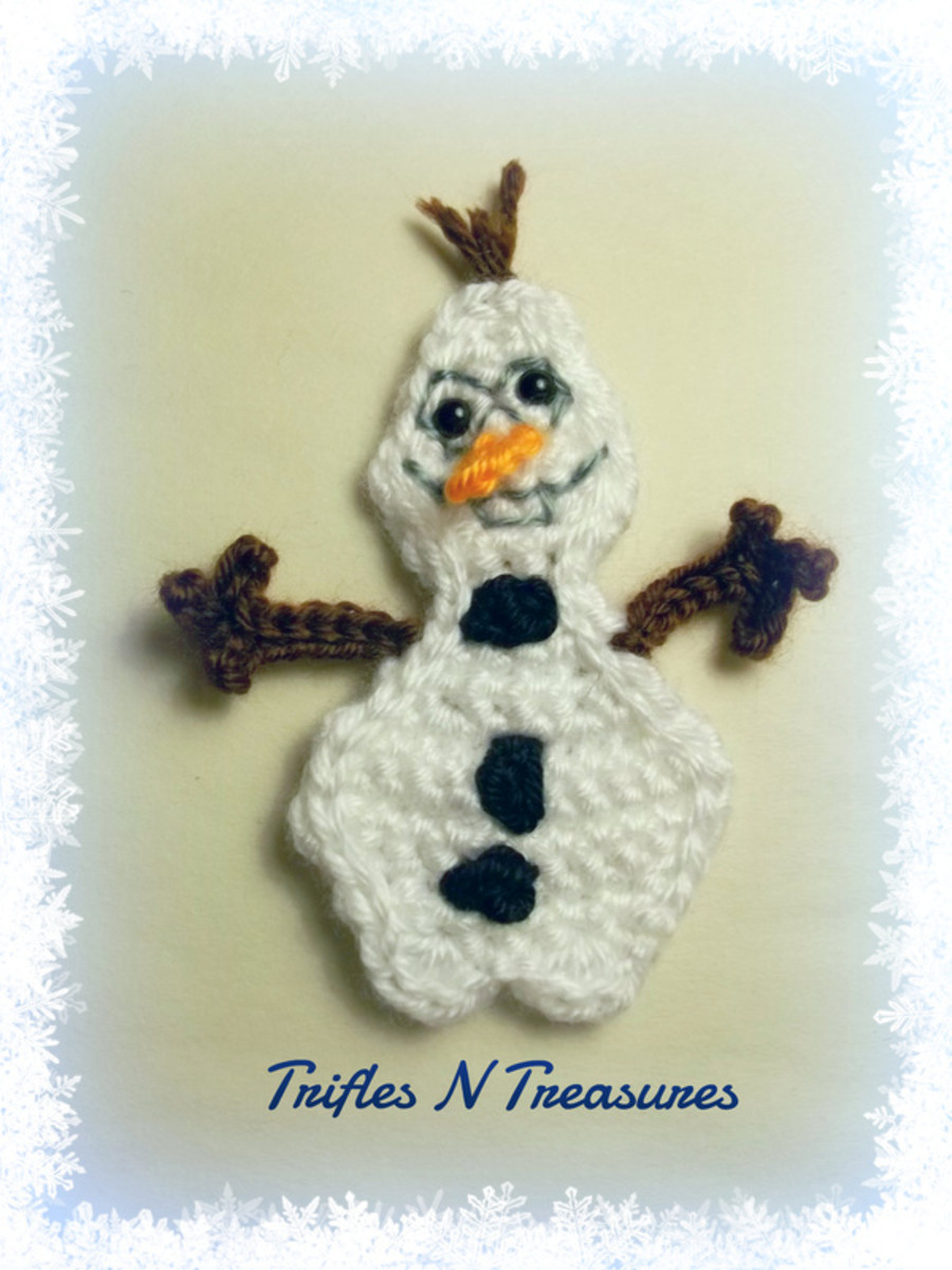This was designed by a crochet designer friend of mine, how cute is Olaf and would be perfect to finish off a hat or cardigan