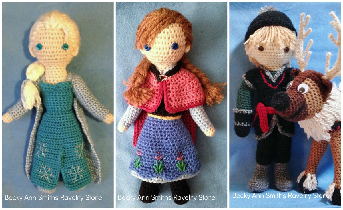 Inspired Frozen dolls and free character patterns
