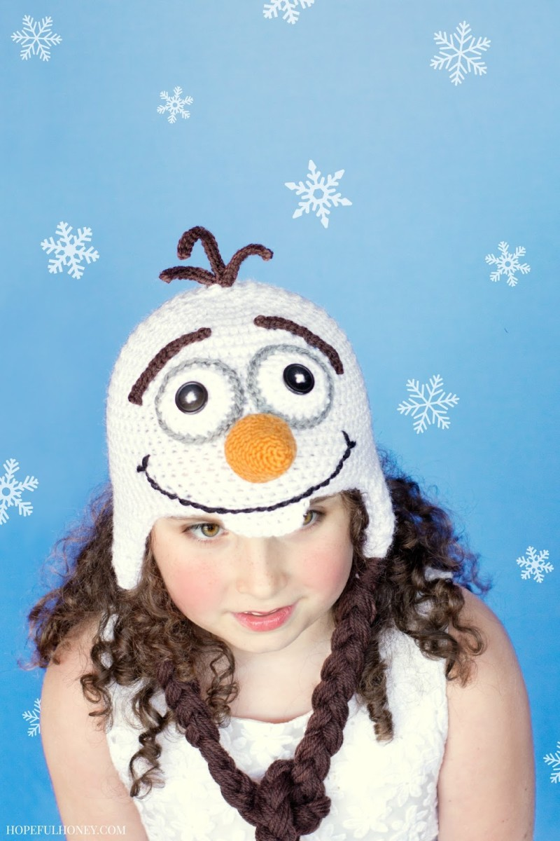 Free Crochet Olaf the Snowman Hat Pattern