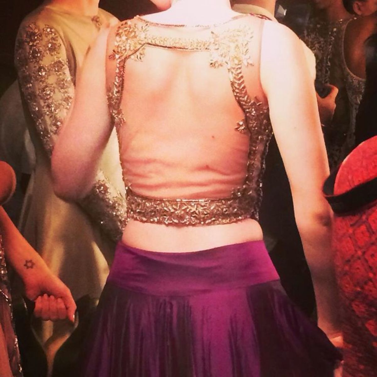 Manish Malhotra designer saree back