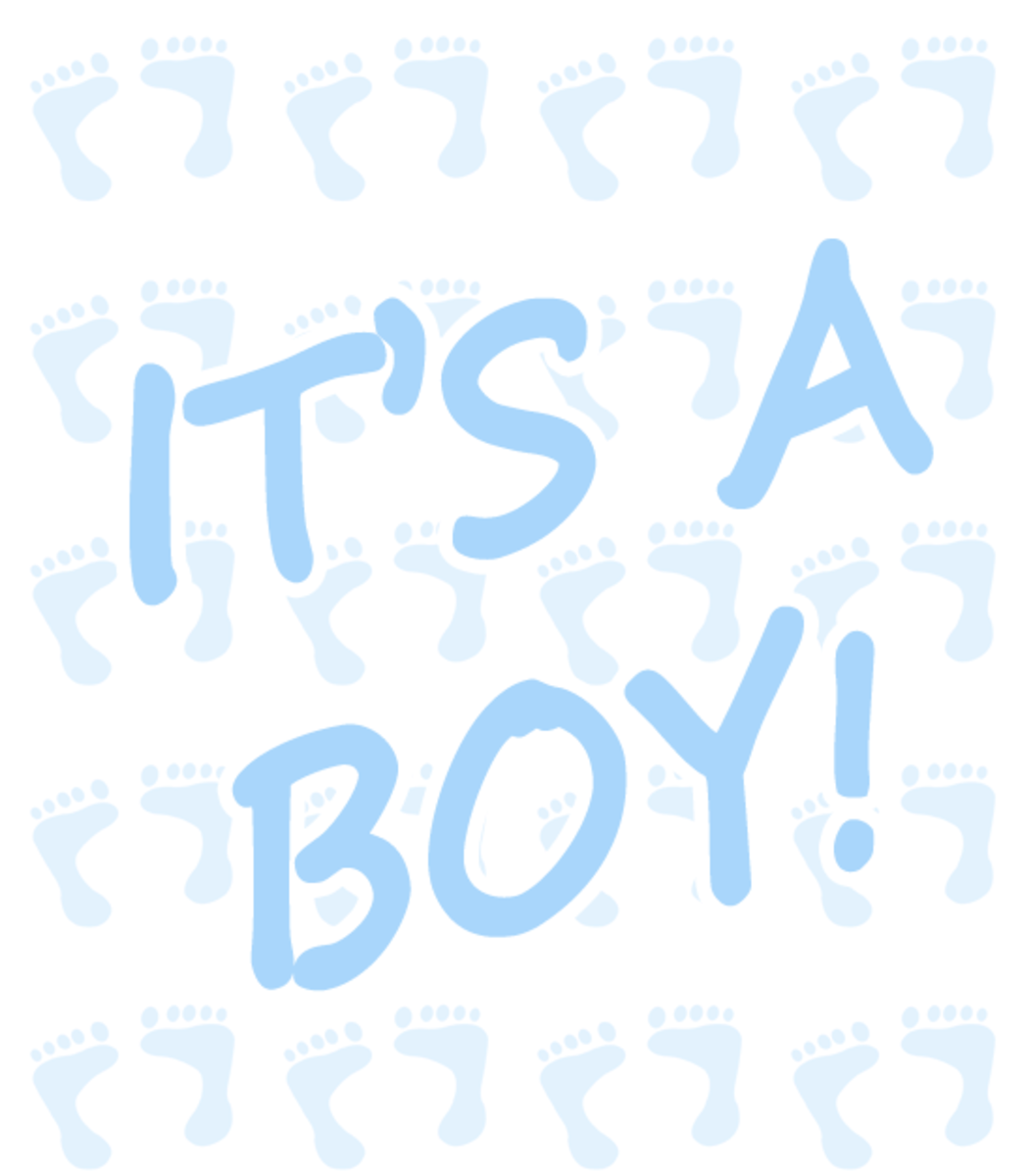 It's A Boy Clip Art