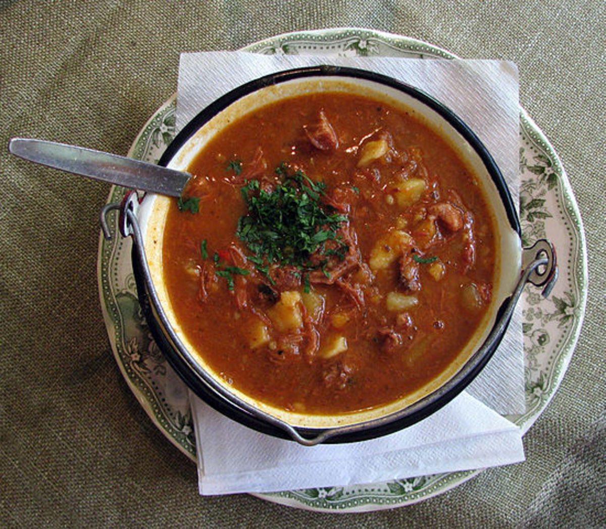 Beautifully presented bowl of Goulash