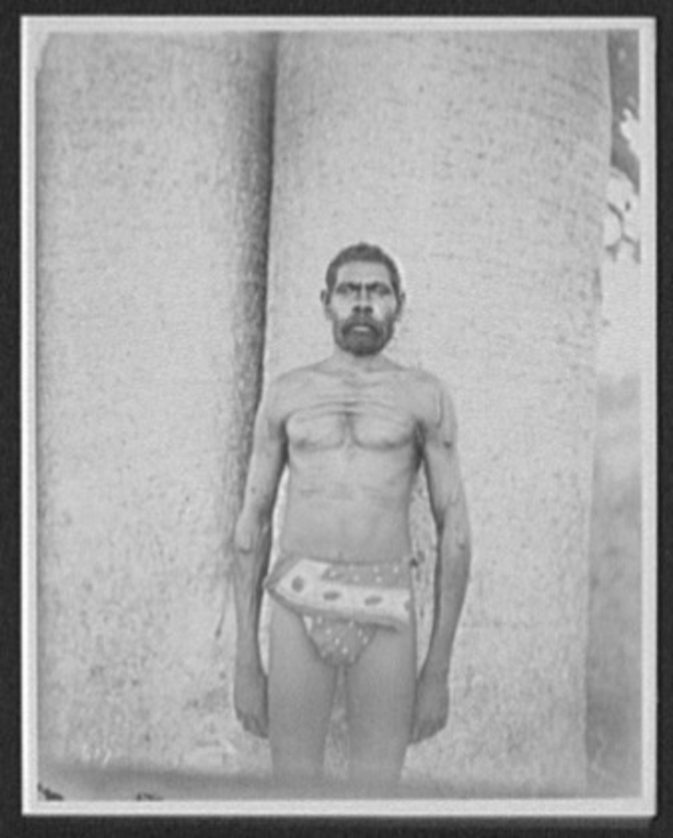 Kings Aborigine man in loin-cloth, 1895, Library of Congress