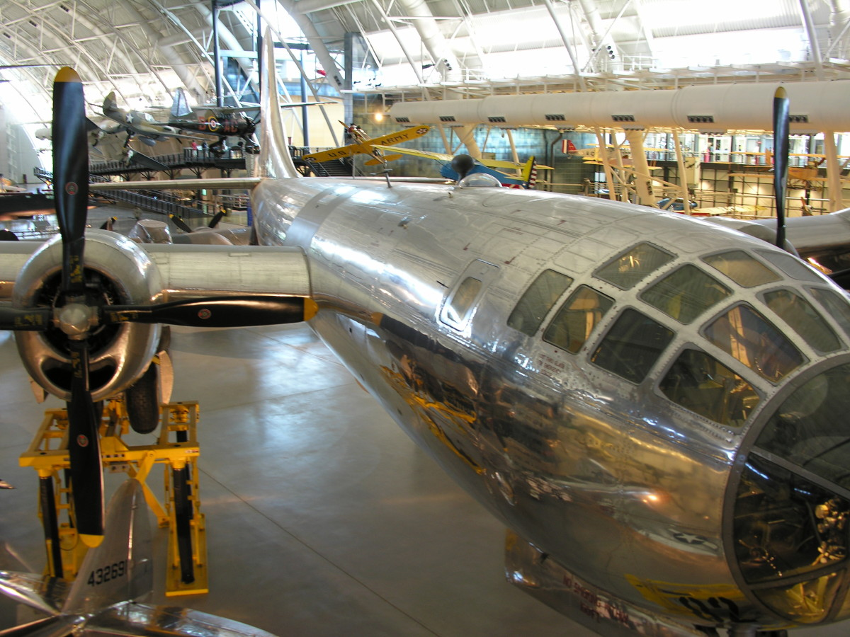 The B-29 Enola Gay at the Udvar-Hazy Center, Centreville, VA, June 4, 2010.  The Enola Gay dropped the atomic bomb on Hiroshima.