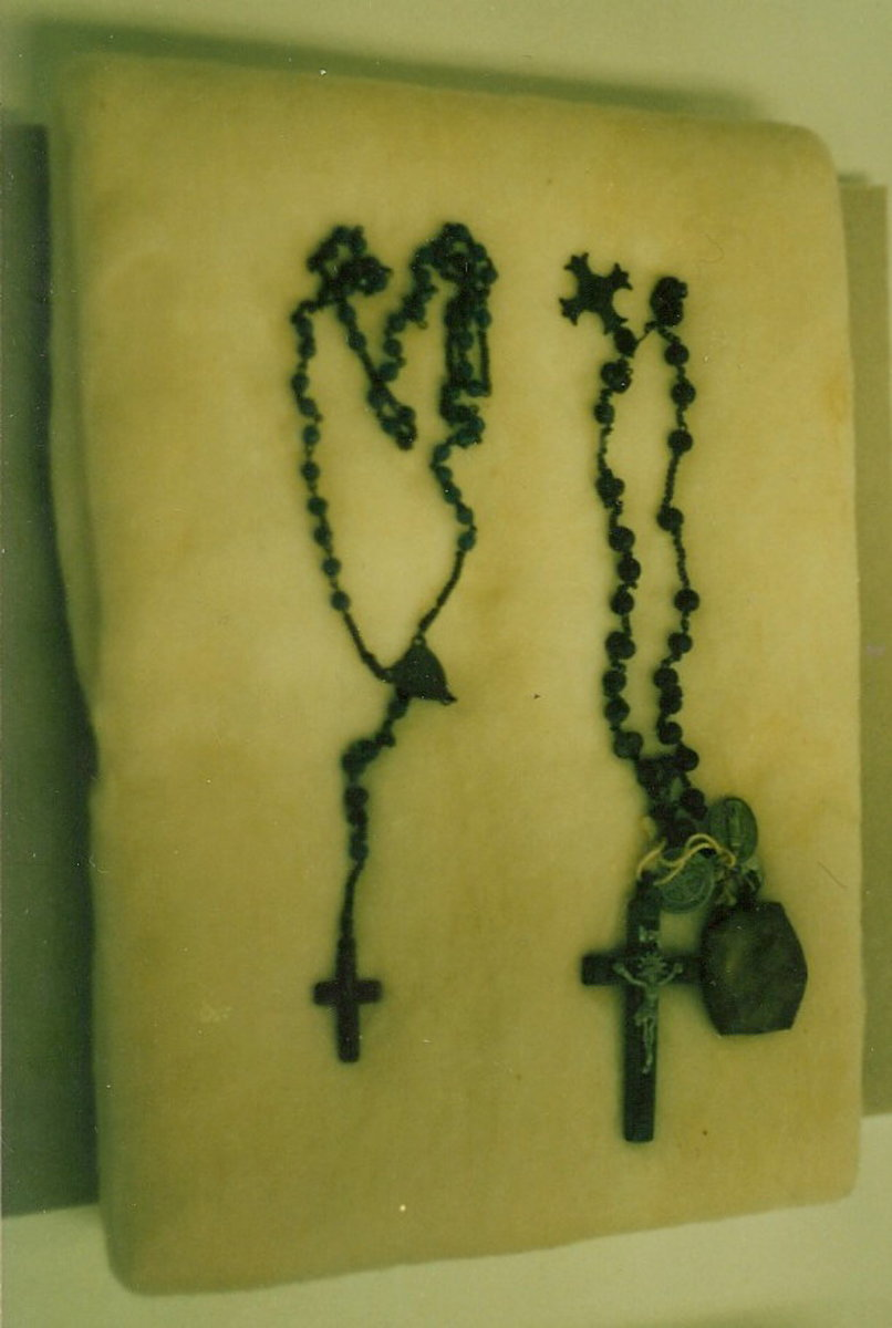 Rosary Beads from the Nagasaki bombing.