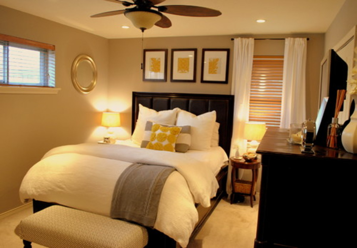 Great look for a small traditional master bedroom