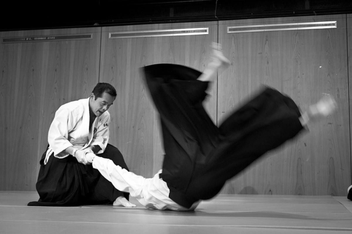Aikido throw.