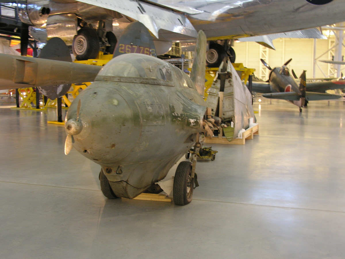 The Me-163 Komet at the Udvar-Hazy Center, Dulles, Virginia, June 2010.