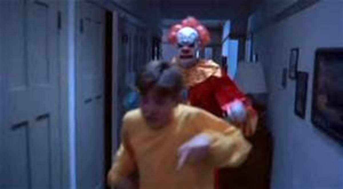 Nathan Forrest Winters tries to outrun murderous Tree in Clownhouse