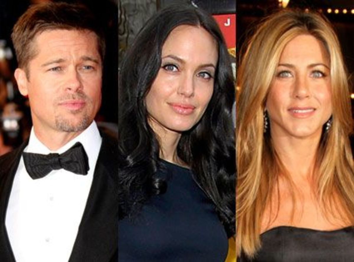 Brad, Angelina and Jennifer