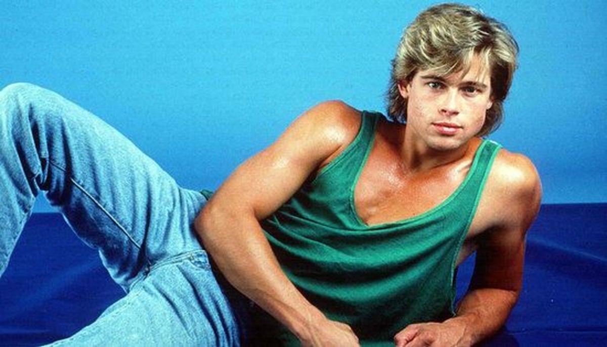 Brad Pitt in his Brat Pack days