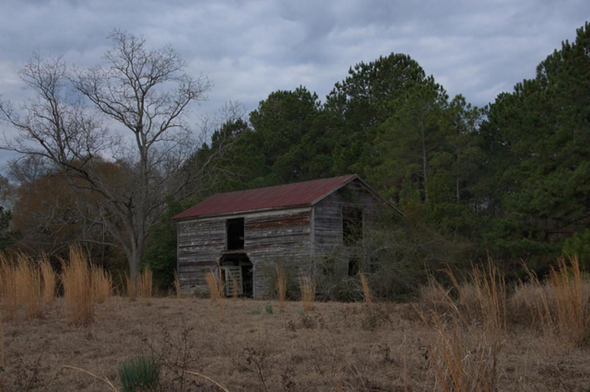 The barn preceded the house