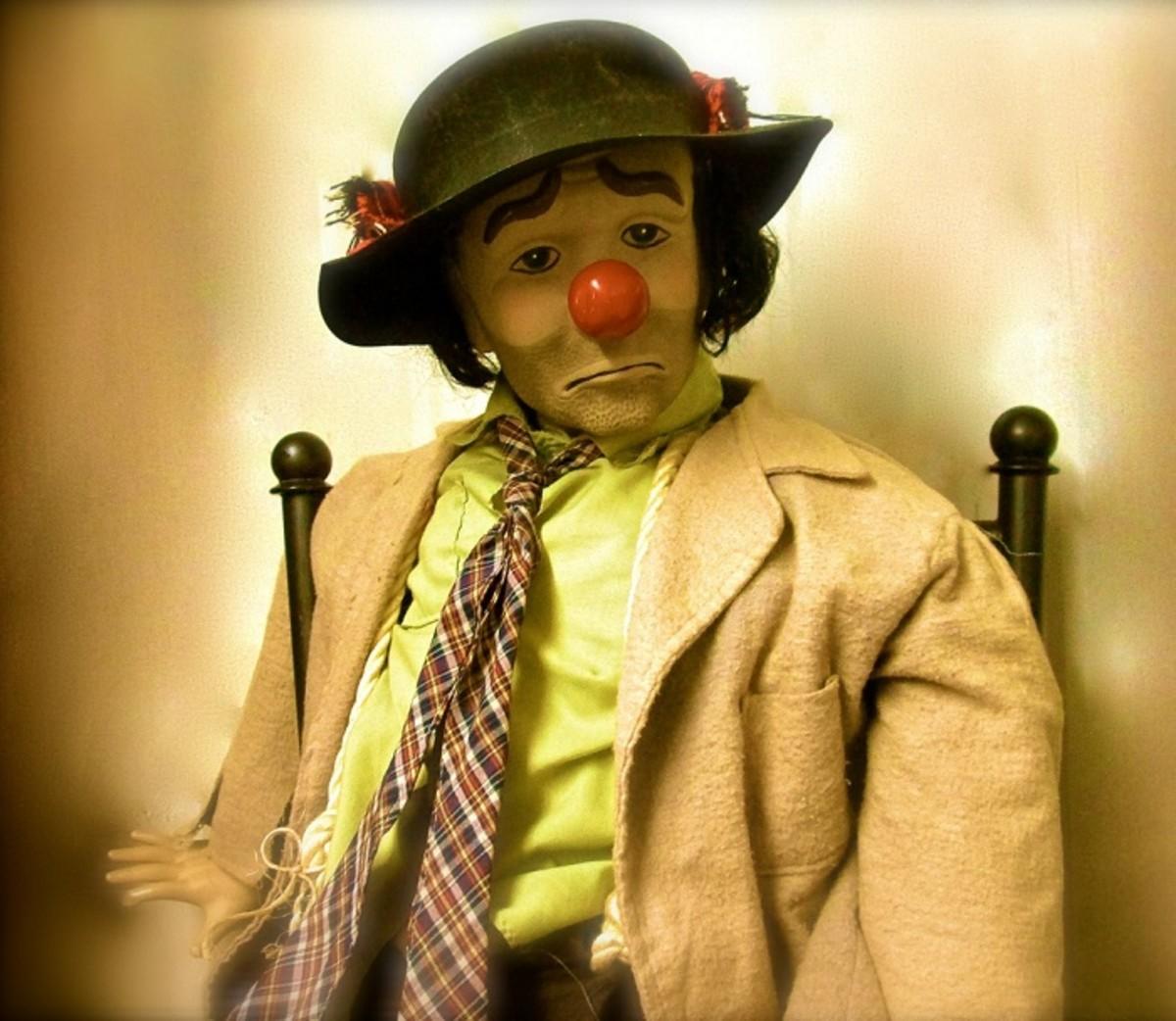 Emmett Kelly - Weary Willie Sad Clown Collectible Dolls