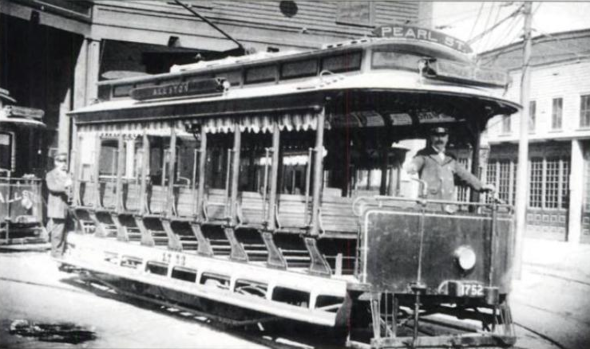 Early electric streetcar: Tremont Street, Boston Subway 1897