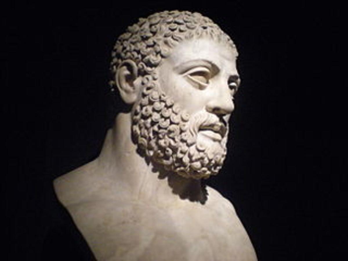 A first century bust of Hercules.