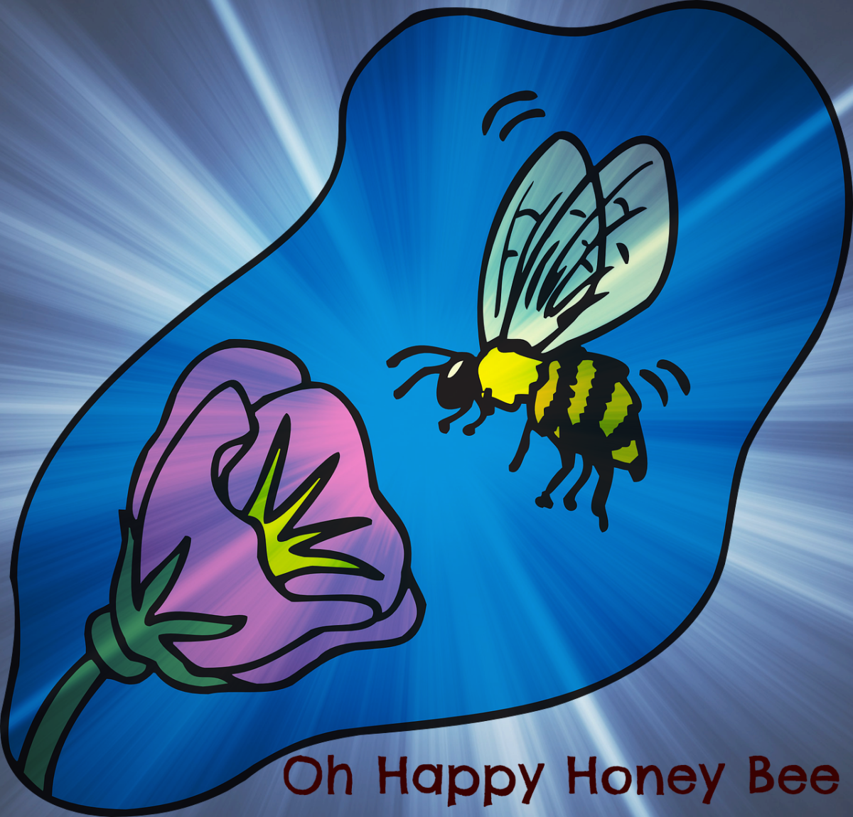 A bee approaches a flower to guzzle nectar.
