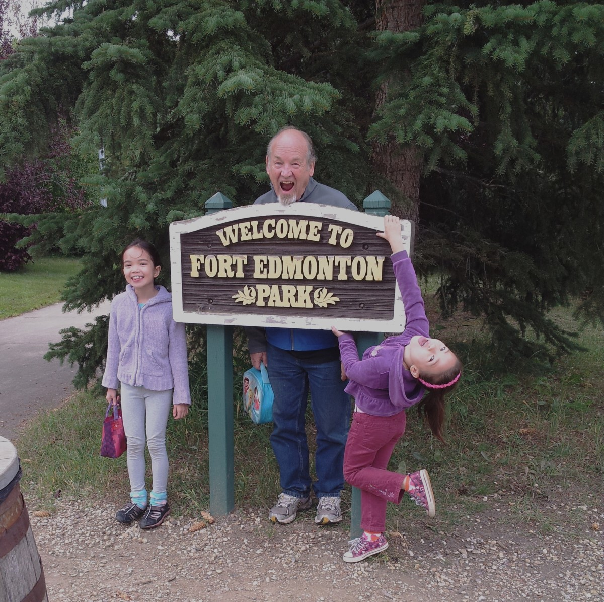 So much fun to be a Grandpa and walk down the historical lanes of old Fort Edmonton!