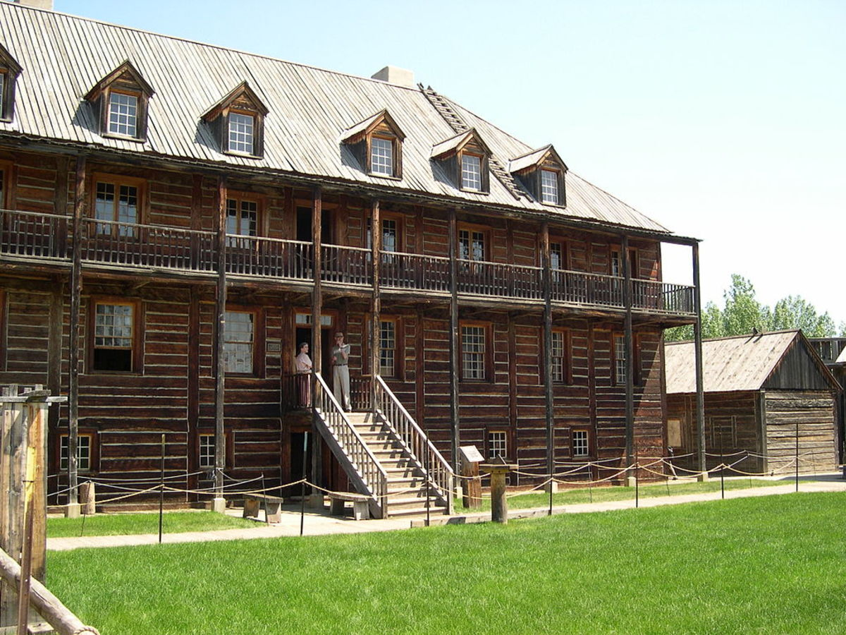 Rowand House, the largest structure at the Fort Edmonton Park.