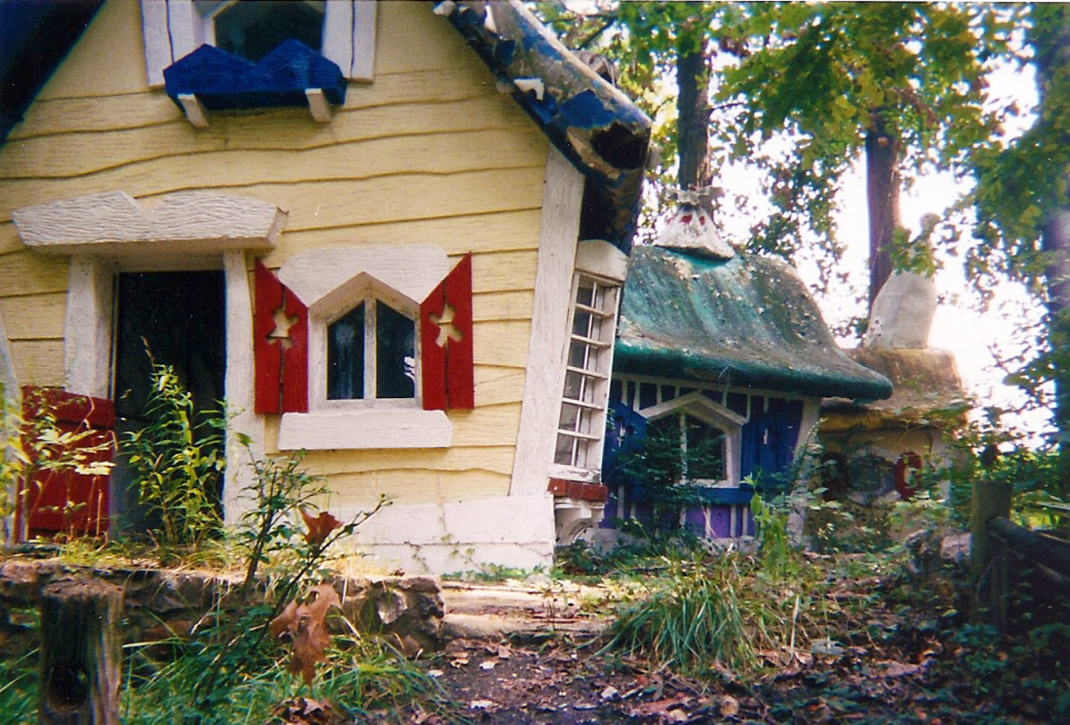 Weedy and trash strewn, the old attractions at the Enchanted Forest still offered their own peculiar enchantment.