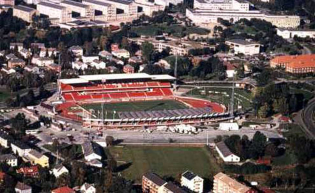 Lerkendal in 1997, when the first stands were upgraded to conform to standard stadium settings. By 2002, Lerkendal had all four grandstands modernized.