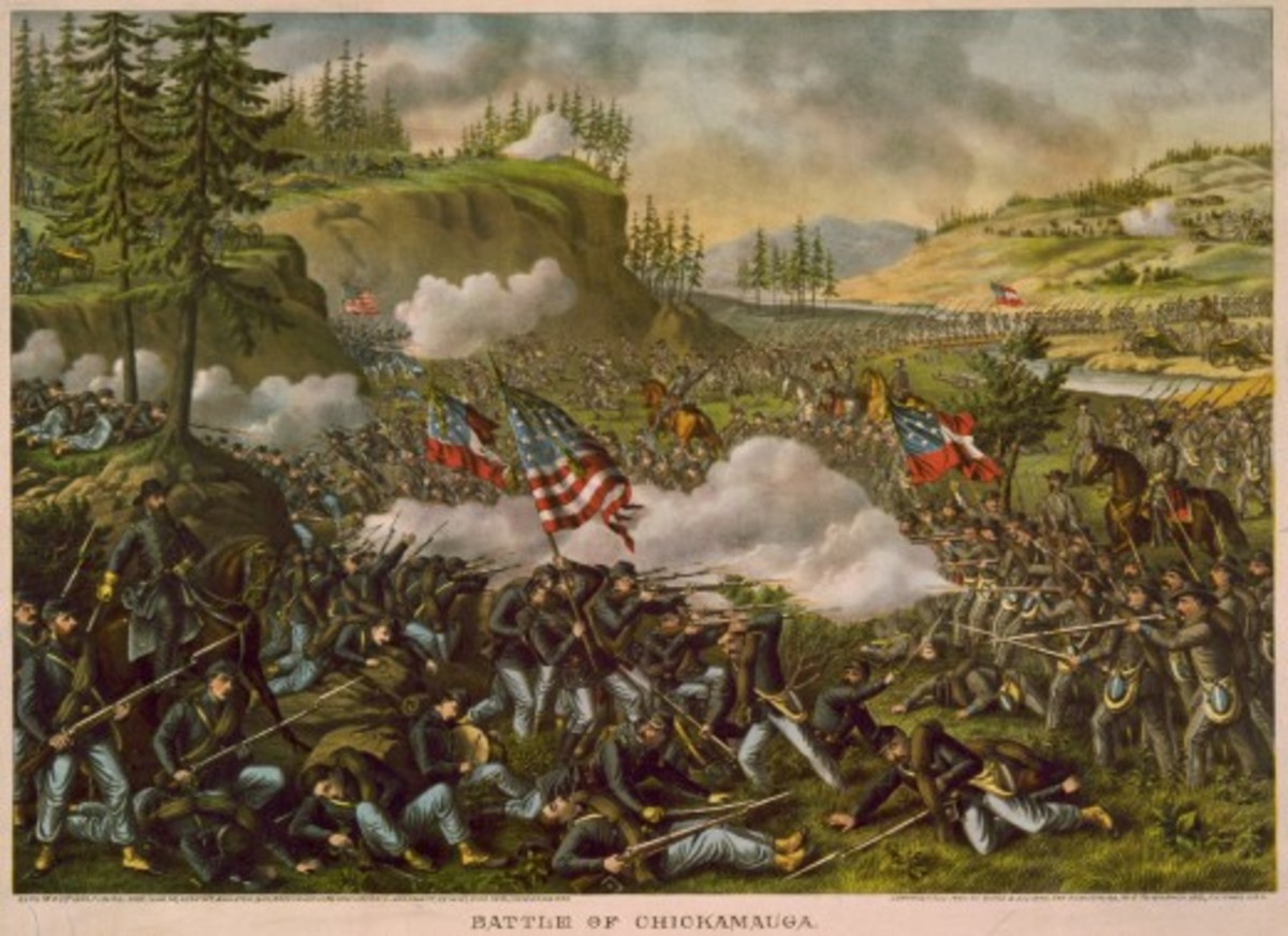 The Battle of Chickamauga was a major Union defeat in the Western Theater of the Civil War.  More casualties were suffered than in any other battle, apart from the Battle of Gettysburg. It was also the first major battle to be fought in Georgia.