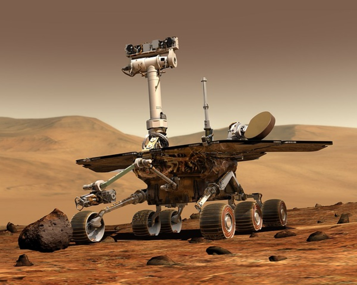 The Martian space rover, Curiosity.  The rover was launched from Cape Canaveral, Florida on November 26, 2011.  Its goals include investigating the Martian climate, geology, and finding out whether the planet once had water and life.