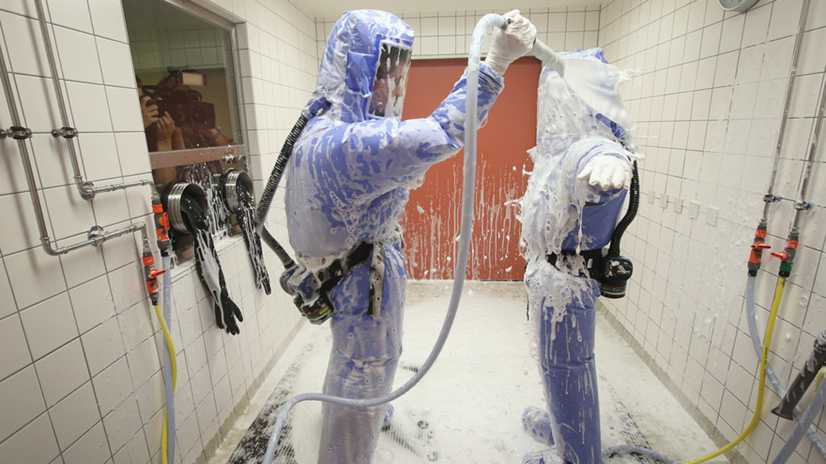 Proper Decontamination after Ebola Exposure