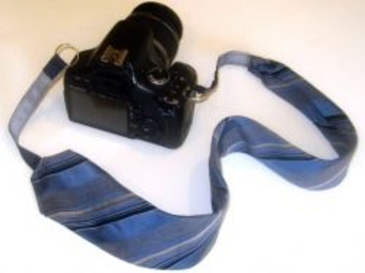 Photographers have an eye for color and style. So for the shutterbug in your life, create a cool comfortable neck strap for their camera. Click on the link here, and scroll down the page for a full tutorial.