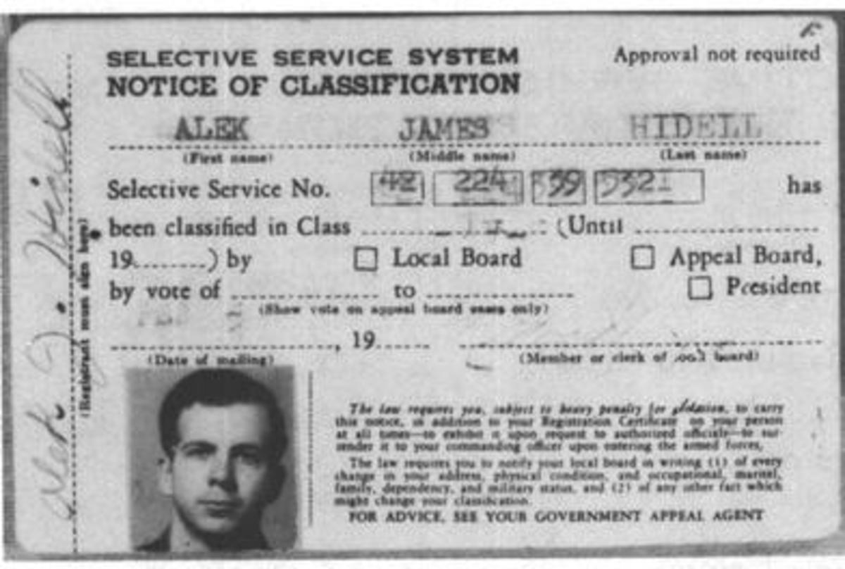 A fake I.D. with the name Alex J. Hidell found in Oswald's wallet.